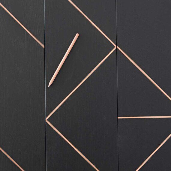 Dettaglio parquet design trama scuro collezione Segno