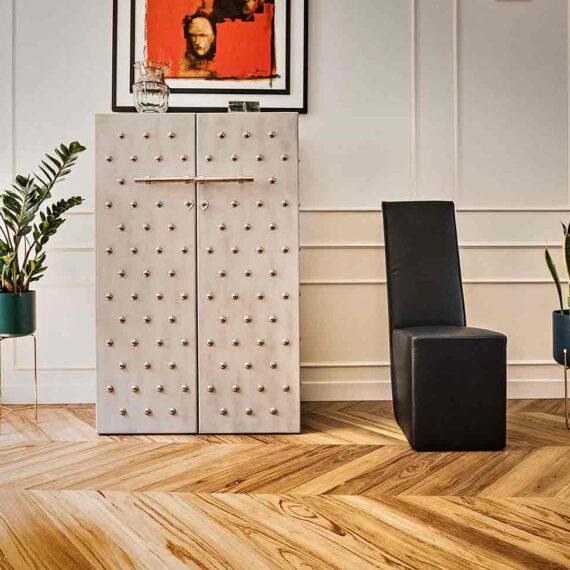 Appartamento a Salerno con parquet teak 3 strati collezione Bottega