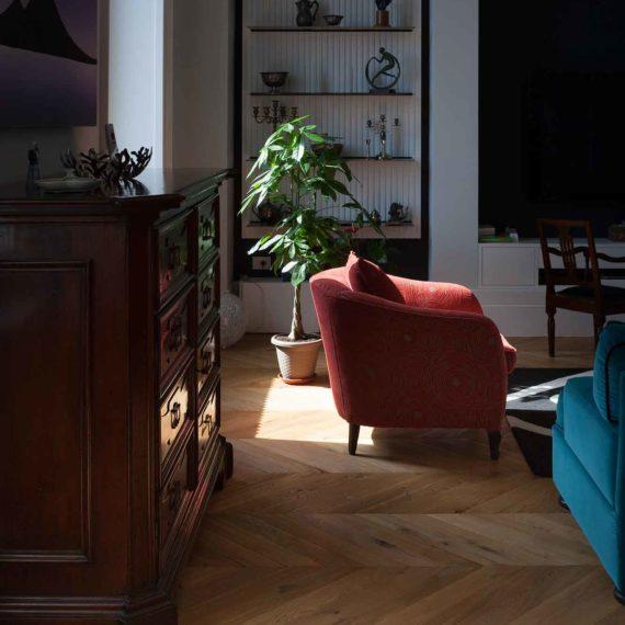 Dettaglio parquet in quercia francese collezione Bottega